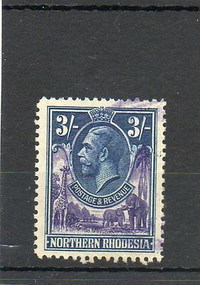 Sg 13 Northern Rhodesia 3/- Used Cat £25 - Revenue Stamp Cancel-