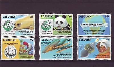 a119 - LESOTHO - SG1127-1132 MLH 1993 ANNIVERSARIES & EVENTS