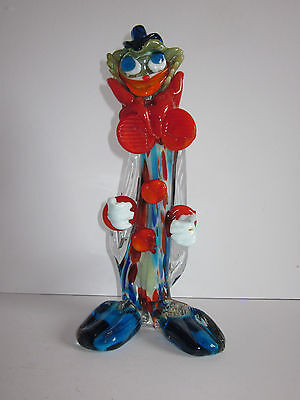 murano Glass Clown, unusual colours. perfect.