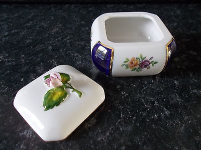 Mothers Day Gift - Royal Dux Bohemia Porcelain - Collectable Trinket Box