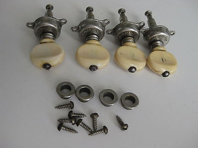 Vintage Gibson Banjo Patented Geared Tuners Pegs Set by Grover for Project