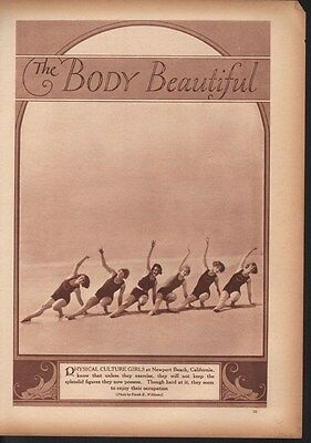 1928 Body Beautiful Exercise Fitness Woman Newport Ad 13979