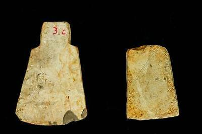 *SC* RARE LOT OF TWO  VIETNAMESE NEOLITHIC STONE AXES - Dong Song!