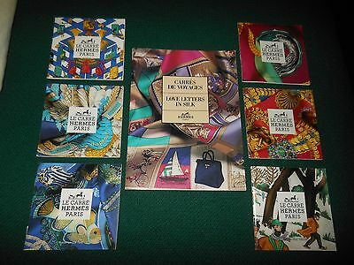 6 Hermes Paris Le Carre Scarf Booklets & 1 Love Letters In Silk Book Booklet