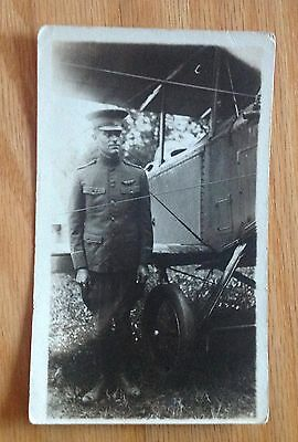2 Rppc's Of A Ww1 Pilot And His Aeroplane -Lowell H Chase