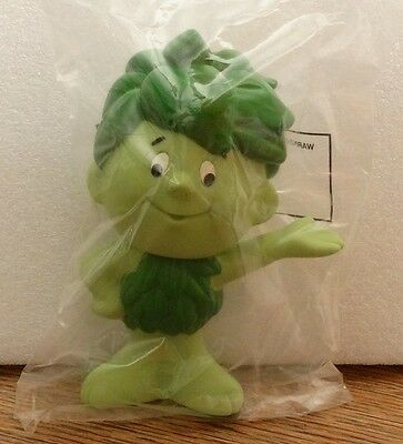 """Sealed SPROUT Jolly Green Giant Rubber Vinyl Toy Doll 6.5"""" 1996"""