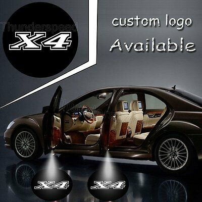 Car Auto Logo Welcome Door Courtesy Laser Ghost Shadow Lamp Projector for X4 2PC