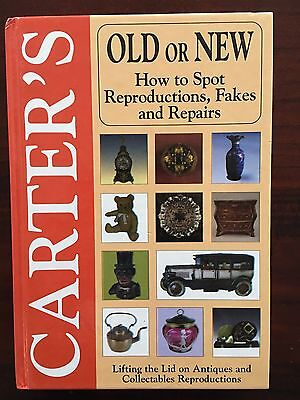 CARTER'S Antiques Guide Book How To spot Reproductions Fakes & repairs Old /New