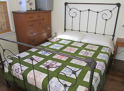 Antique Platform Victorian Metal Cast Iron Steel Full Size Bed