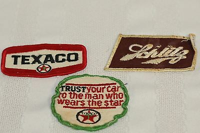 Lot of 3 Vintage Jacket/Coat Patches 2 - Texaco 1 - Schiltz