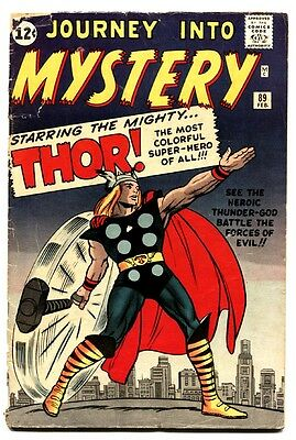 Journey Into Mystery #89 comic book Jack Kirby cover - Silver-Age Marvel  1963