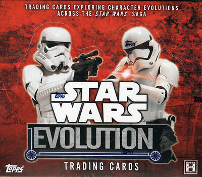 2016 Topps STAR WARS EVOLUTION HOBBY SEALED CASE (12 BOXES)!!!