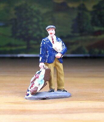 Man With Open Suitcase And Clothes Falling Out Metal Figure O Scale Train Layout