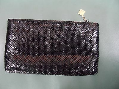 Black Metal  Mesh Evening Bag Whiting & Davis International Clutch