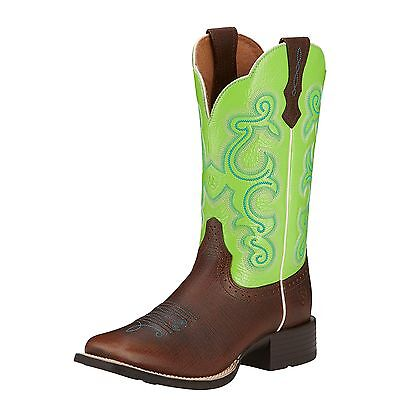 ARIAT - Women's Quickdraw - Scratched Chestnut / Lime - ( 10016311 ) - 7B Sample