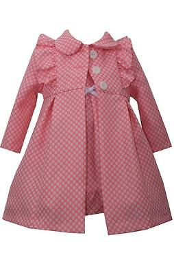 f5954340f BONNIE JEAN GIRLS Baby Pink Dress and Coat Set Spring Easter 2 Pc ...