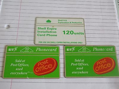 British Telecom Phonecard Collectable Used Rare  X3