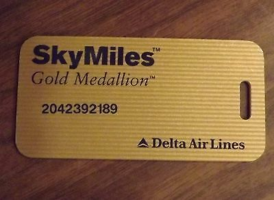 Delta Airlines Skymiles Gold Medallion Luggage Tag Sky Miles Air Lines