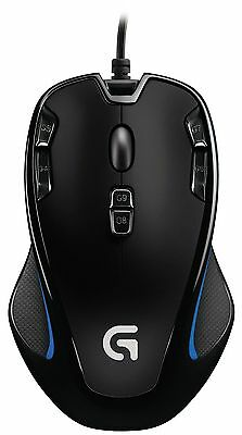 Logitech G300S Wired Optical USB 9 Buttons RGB LED Tunable MOBA Gaming Mouse