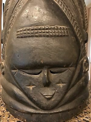WOW Authentic Mende Helmet Mask Wooden African Tribal Art Weapon Artifact NR!