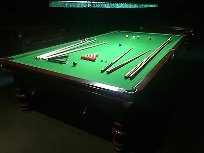 Full Size (12' x 6') Snooker Table with balls and accessories