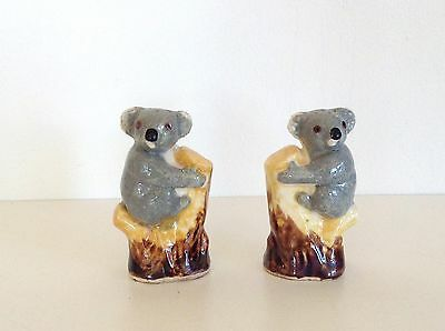 Vintage Mid Century Pair Koala Salt Pepper Shakers Japan Grace Seccombe style