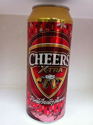 Cheer beer can,Beer of Thailand, collectibles,big size 500 ml