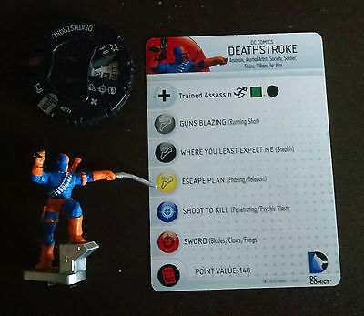 Deathstroke #037a rare Teen Titans Heroclix set with card Villains for HIre