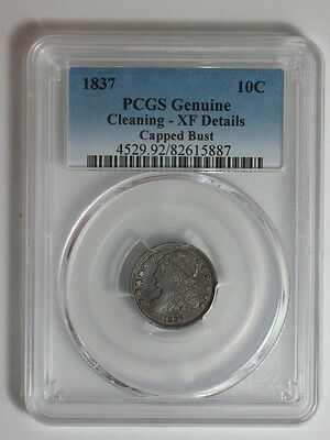 1837 Capped Bust Dime - Pcgs Genuine - Xf Details