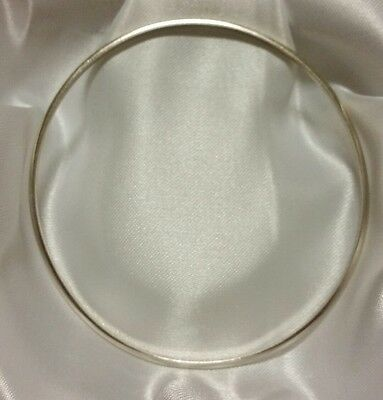 Genuine 9ct solid white gold golf bangle 7 grams