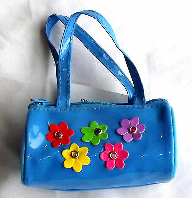 Blue with Flowers, Doll Handbag 4 Zapf Baby Born / Baby Alive