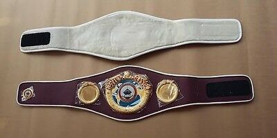 WBO Boxing Replica Championship Belt Metal Plates made of Artificial Leather