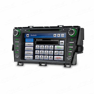 "GPS Sat Nav 8"" In Car DVD Player Head Unit Bluetooth for Toyota Prius 2009-2013"