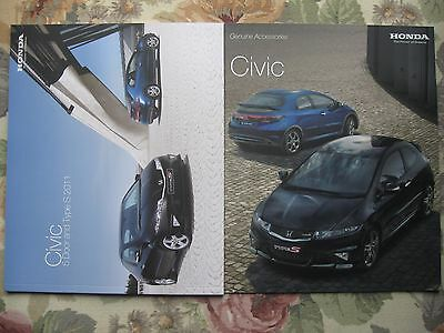 2011 Honda Civic and Type S brochure and 2009 accessories brochure