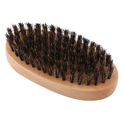 Natural Faux Boar Bristle Beard Brush & Handmade Mustache Men Beard Comb Kit