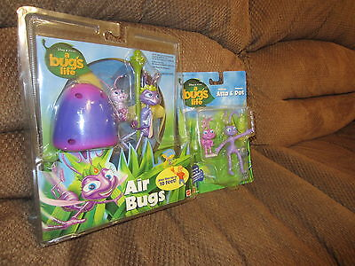 Disney A Bugs Life Air Bugs Mushroom Launcher Flyer & Figure Set Atta & Dot 1998