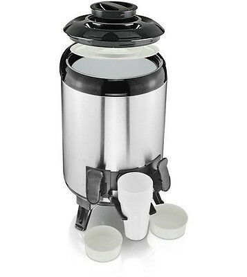 9 L Airpot Beverage Dispenser Hot Cold Drinks Stainless Steel Catering Urn Flask
