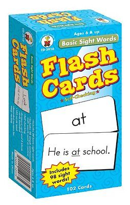 Basic Sight Words Flash Cards, Ages 6 - 9 Cards