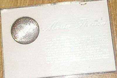 Maria Theresa Collectors Silver Coin  In A Case