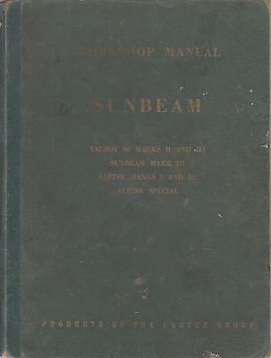 Sunbeam Talbot 90 Mk2 Mk2A Alpine Mk1 Mk2 Special '48-55 Factory Workshop Manual