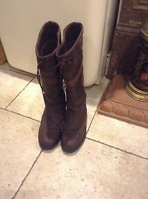 toggi riding country riding waterproof leather walking boots size 8