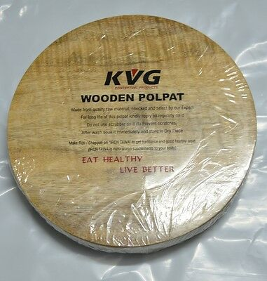 Wooden Craft Indian Chapati Round Board 9 Inches Pastry & Cake Board Kitchen