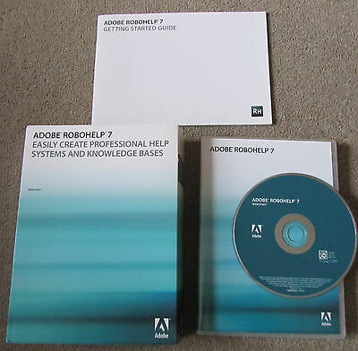 Adobe ROBOHELP 7 WINDOWS PC PN: 38043523 Genuine