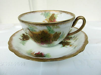 Antique William Adderley  Hand Decorated  Cup & Saucer  10769 WAA & Co.
