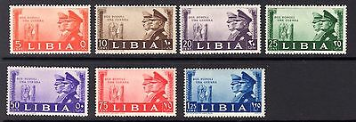 Libya 1941 stamps showing Hitler and Mussolini mounted mint