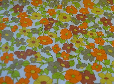 Charming Vintage 1960S Floral Linen Print Ss230