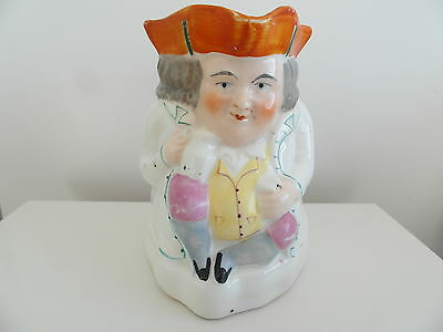 Staffordshire  Victorian Pottery  Toby Jug