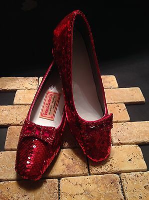 Replica of Judy Garland's Ruby Slippers From The Wizard of Oz Size 8.5