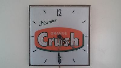 Vintage Orange Crush Clock