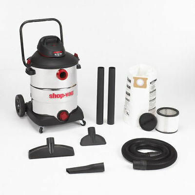 Shop-Vac 16 Gallon 6.5 Peak HP Stainless Steel Wet/Dry Vac w/Dolly 5986400 NEW